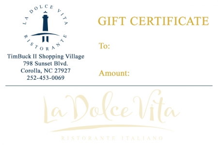La Dolce Vita - Gift Certificate